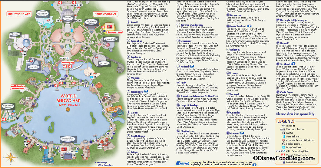 graphic relating to Printable Epcot Map identify Epcot Foods And Wine Map, Menus And Rates. - Its Mouse Season