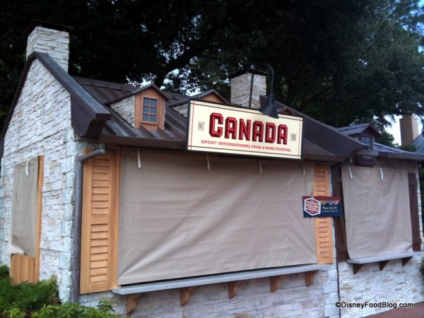 The Canada Booth is a Consistent Favorite at Epcot's Food and Wine Festival