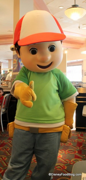 AJ's Favorite! Handy Manny at Hollywood and Vine Restaurant