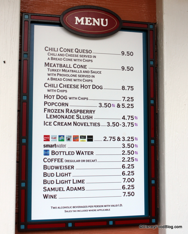 Disney World Room Service Menu