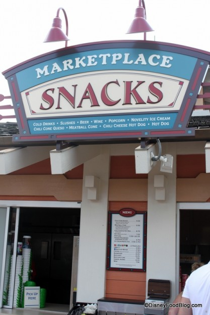 Marketplace Snacks in Walt Disney World's Downtown Disney