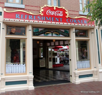 Refreshment Corner in Disneyland -- Main St. USA