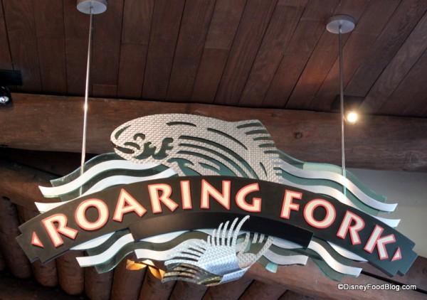 Raoring Fork sign