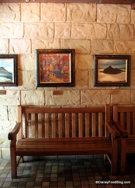 Seating and Paintings in the Lobby