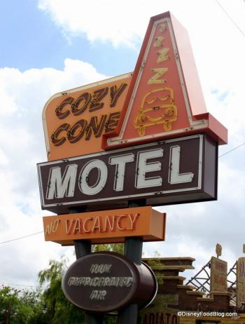 Cozy cone Sign