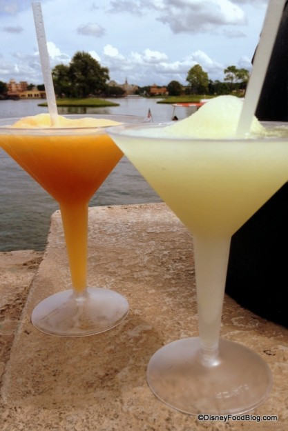 Grand Marnier and Grey Goose Slushes in Epcot's France Pavilion.