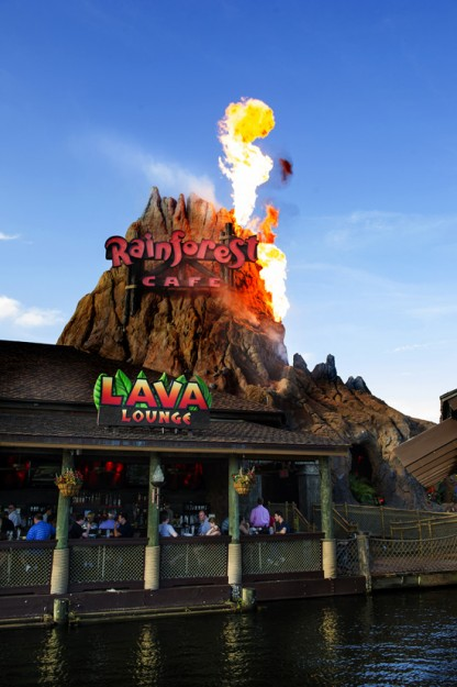 Lava Lounge Opened at Rainforest Cafe  in Orlando's Downtown Disney This Year