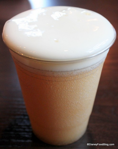 LeFou's Brew at Gaston's Tavern (topped with Passion fruit and Mango foam)