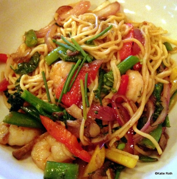 Pity, that asian noodles with shrimp are