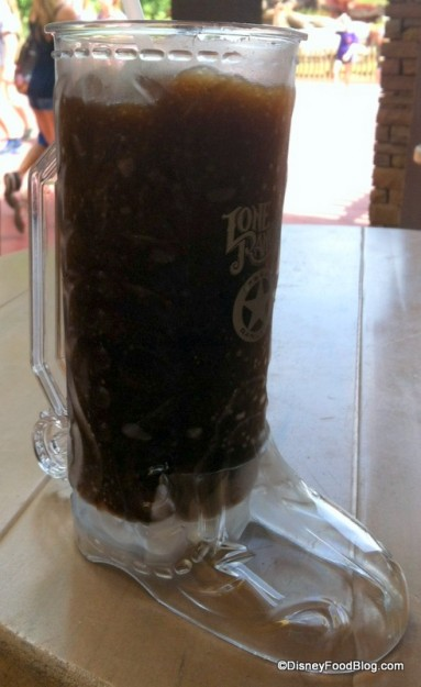Souvenir Boot Cup With Root Beer Slush at Pecos Bill -- Check Out the Clear Version