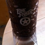 New! Root Beer Slush in a Souvenir BOOT and Chicken Sandwich at Pecos Bill in Disney World