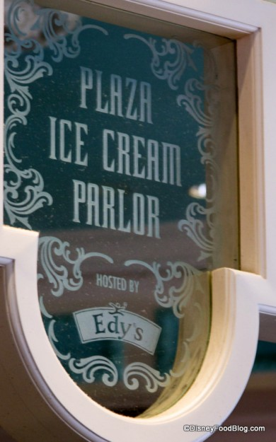 Plaza Ice Cream Parlor Sign