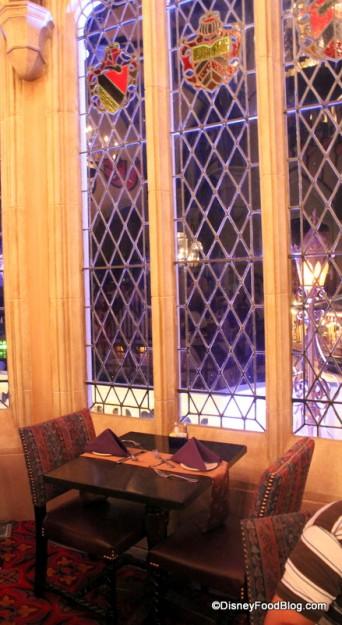 Cinderella's Royal Table Dining Room Window Seat