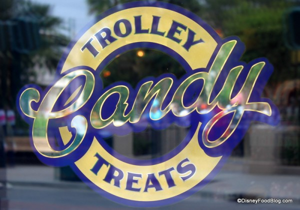 Trolley Treats sign