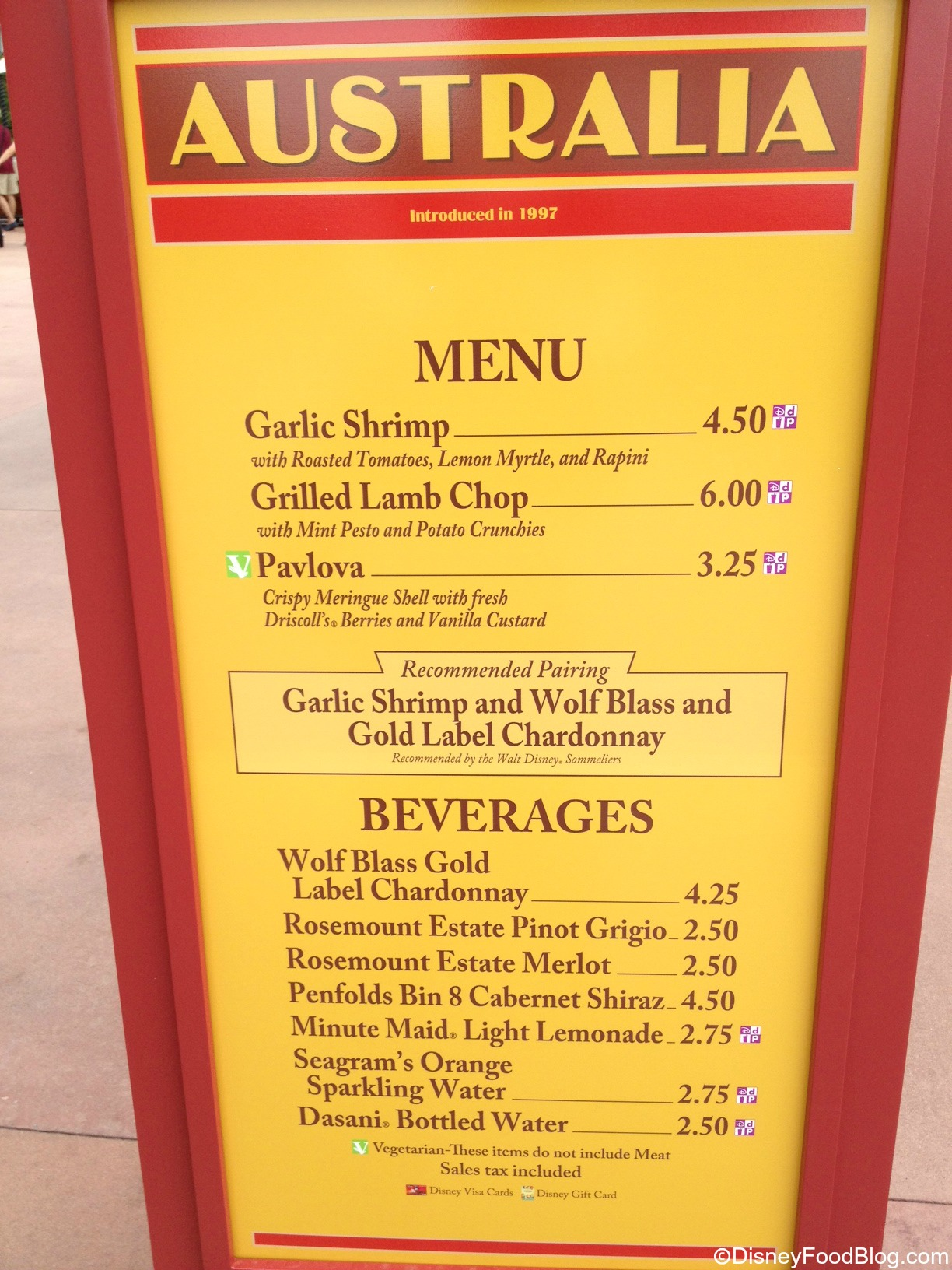 Australian Cuisine Menu Of Australia 2013 Epcot Food And Wine Festival The Disney