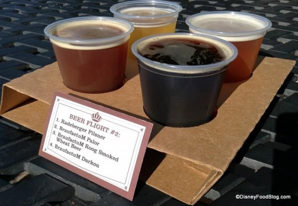 Beer Flight Featuring BraufactuM Selections