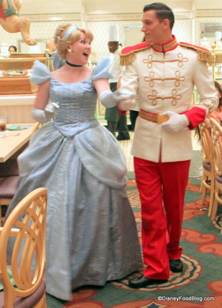 Cinderella and Prince Charming at 1900 Park Fare's Dinner Buffet