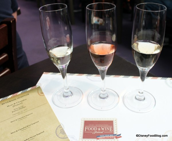 Champagne Seminar at Epcot Food and Wine Festival