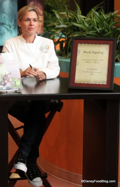 Chef Cat Cora Book Signing at the Epcot Food and Wine Festival