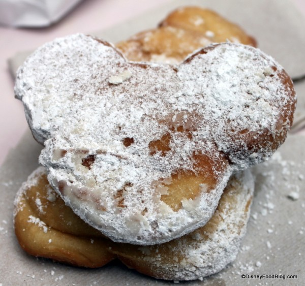 Regular Mickey Beignets at Disneyland's Mint Julep Bar