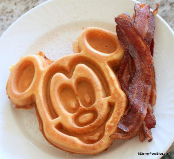 Mickey Waffle with Bacon!