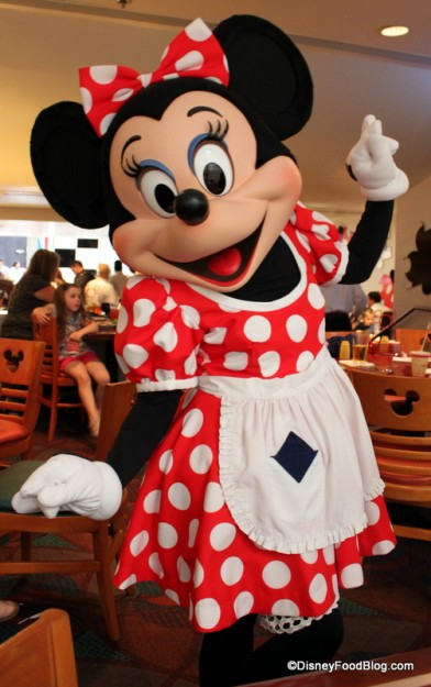 Minnie Rockin' her Dots at Chef Mickey's