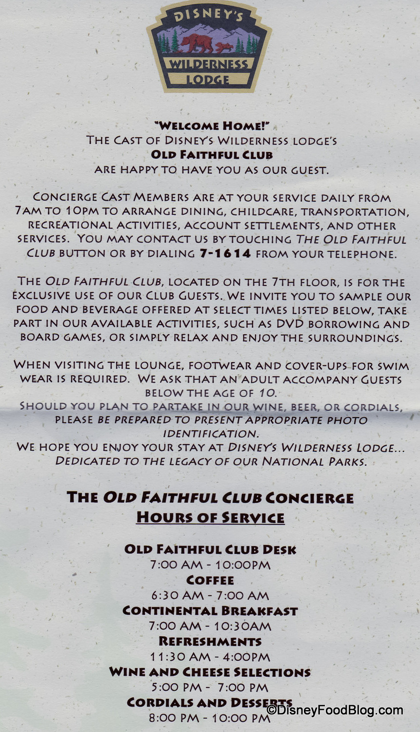 Guest Review: Old Faithful Club Concierge Lounge at Disney ...