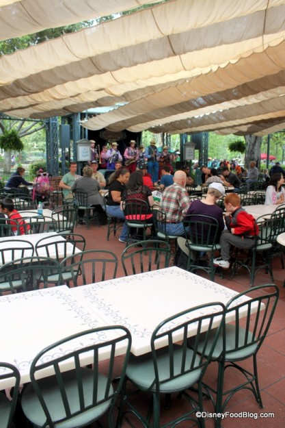 Seating at French Market -- doubles as Julep Bar seating