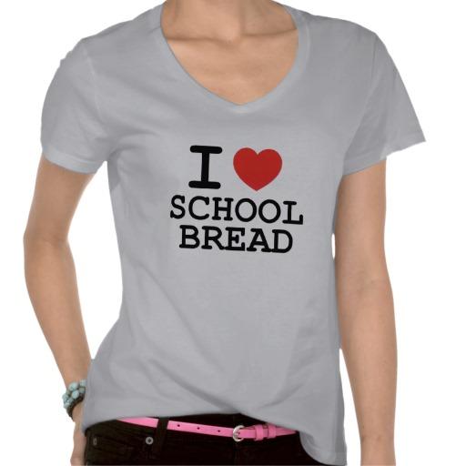 I Love School Bread tee