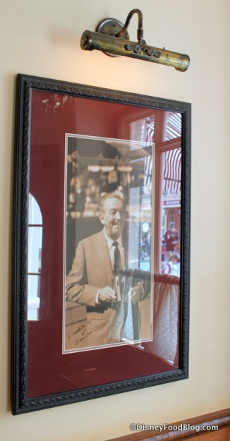 A Picture of Walt Disney Hanging in Carnation Cafe