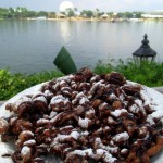 New! Double Chocolate Funnel Cake at Epcot's America Pavilion