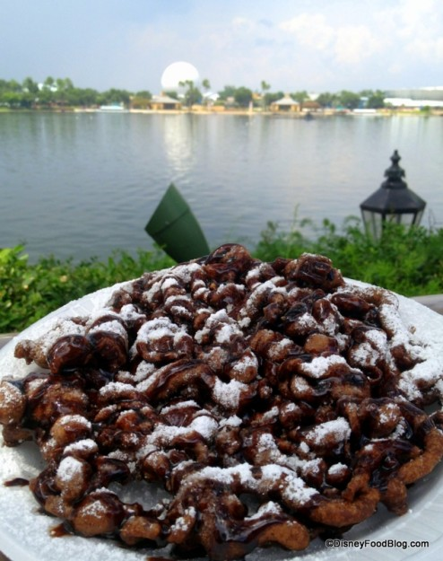 Double Chocolate Funnel Cake in Epcot