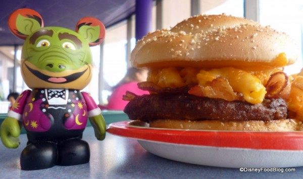 Sonny Eclipse VinylMation next to burger