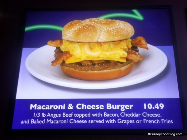 Macaroni and Cheese Burger Description