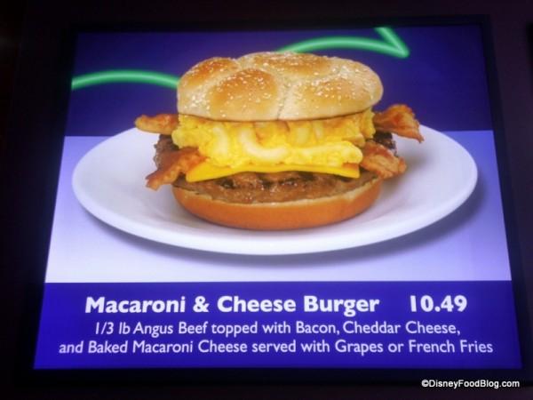 Macaroni and Cheese Burger Description