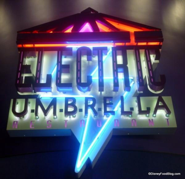 Electric Umbrella Sign