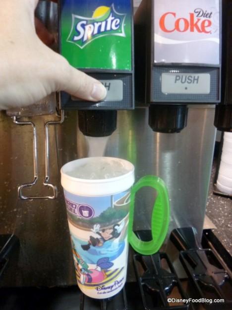 Filling the mug