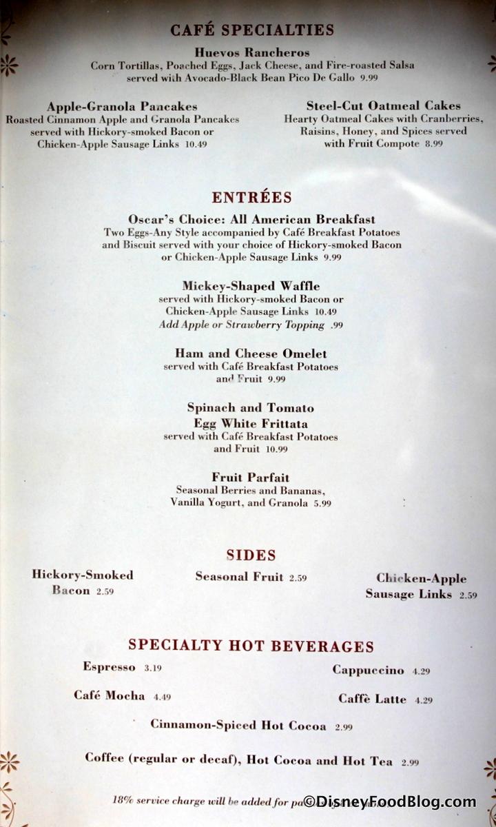 Toast Restaurant Menu