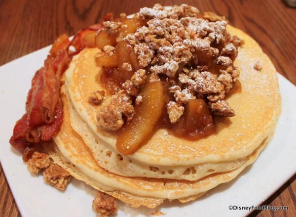 Apple Granola Pancakes