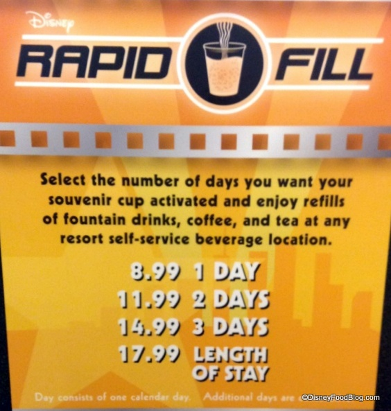 Rapid Fill Information