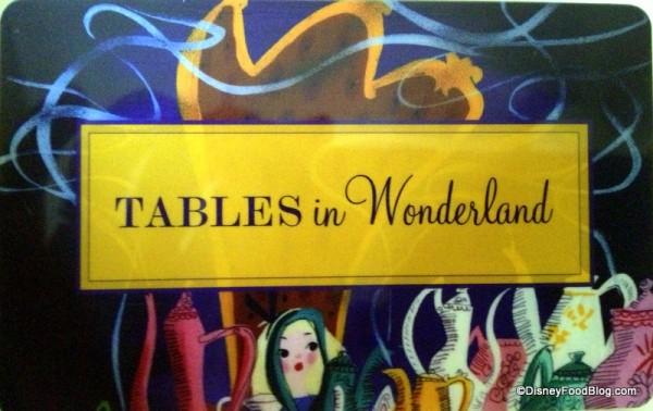 Tables in Wonderland Card