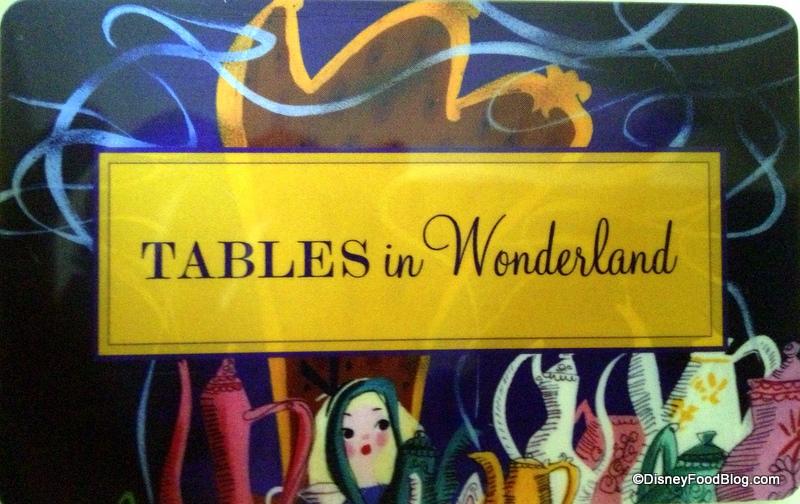 Tables In Wonderland The Disney Food Blog