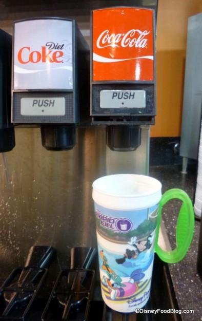 Rapid Fill Mug on tray