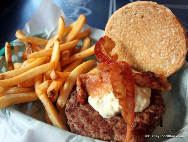 Blue Cheese and Bacon Burger from the Taste Pilots' Grill. The Eatery Will Reopen as Smokejumpers Grill March 20