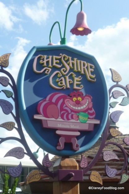 Cheshire Cafe Sign