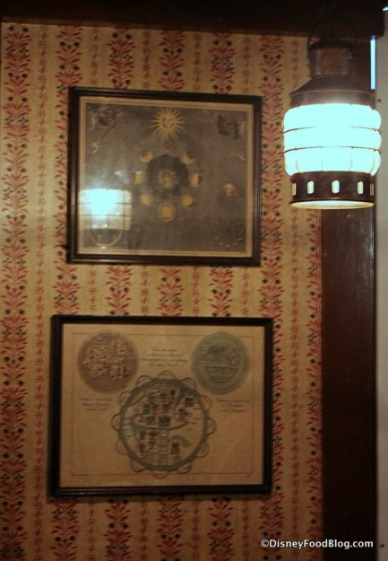 Columbia Harbour House Maps and Hidden Mickey