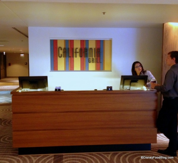 Second Floor Check In Desk for California Grill