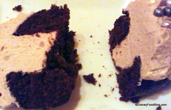 Cross section of The Master's Cupcake