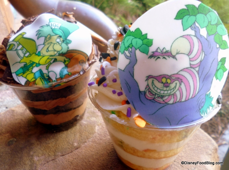 Review NEW Gourmet Cake Cups At Magic Kingdoms Cheshire Cafe