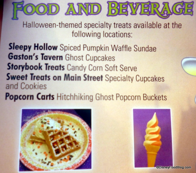 food and beverages - Mickey Not So Scary Halloween Party Tickets